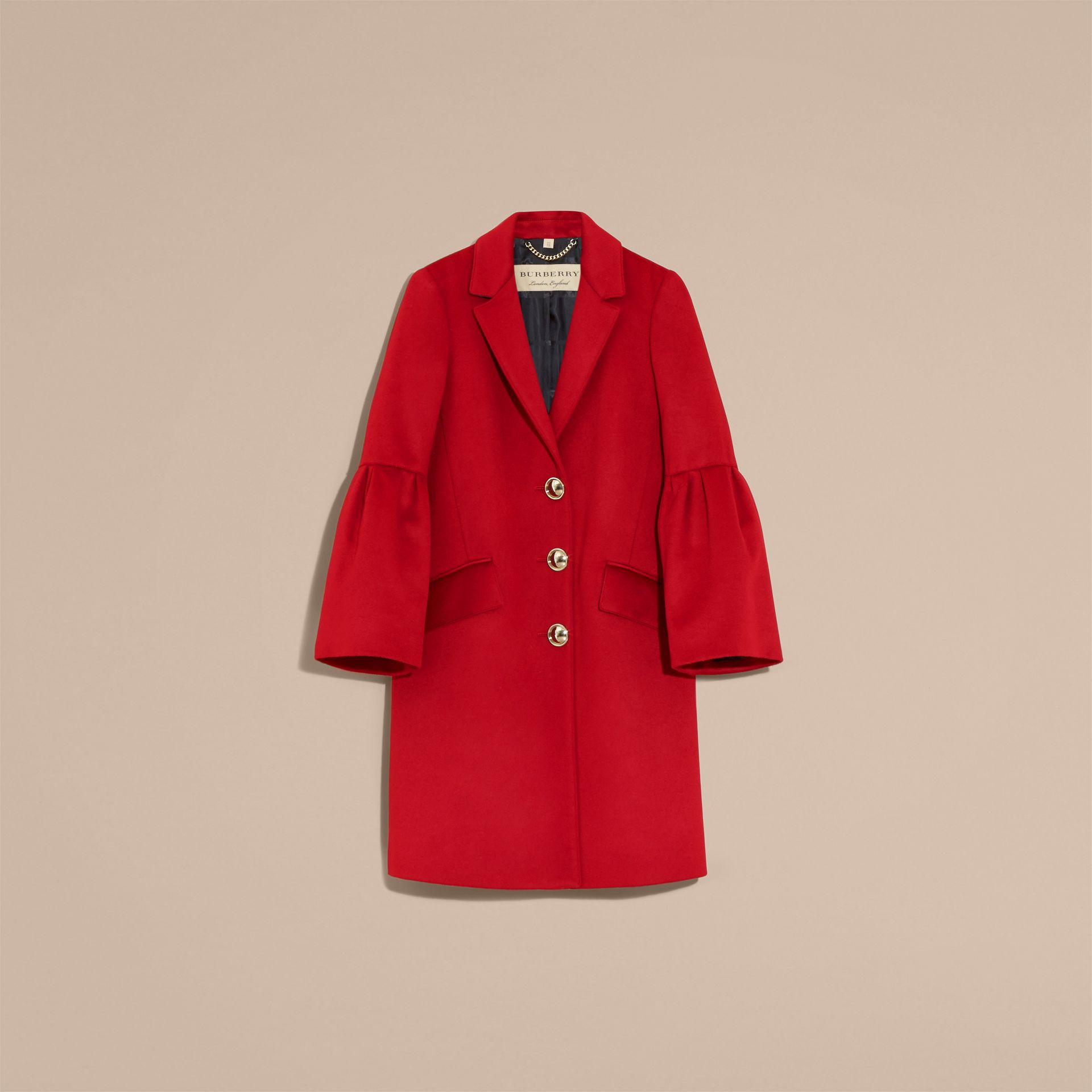Parade red Tailored Wool Cashmere Coat with Bell Sleeves Parade - gallery image 4