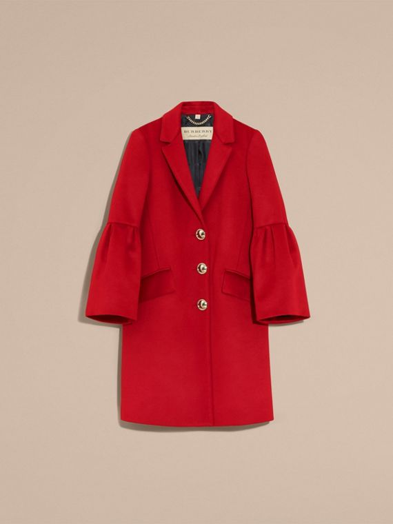 Parade red Tailored Wool Cashmere Coat with Bell Sleeves Parade - cell image 3