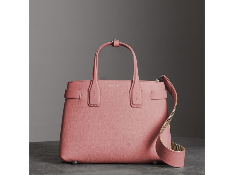 The Small Banner in Leather in Dusty Rose - Women | Burberry - cell image 4