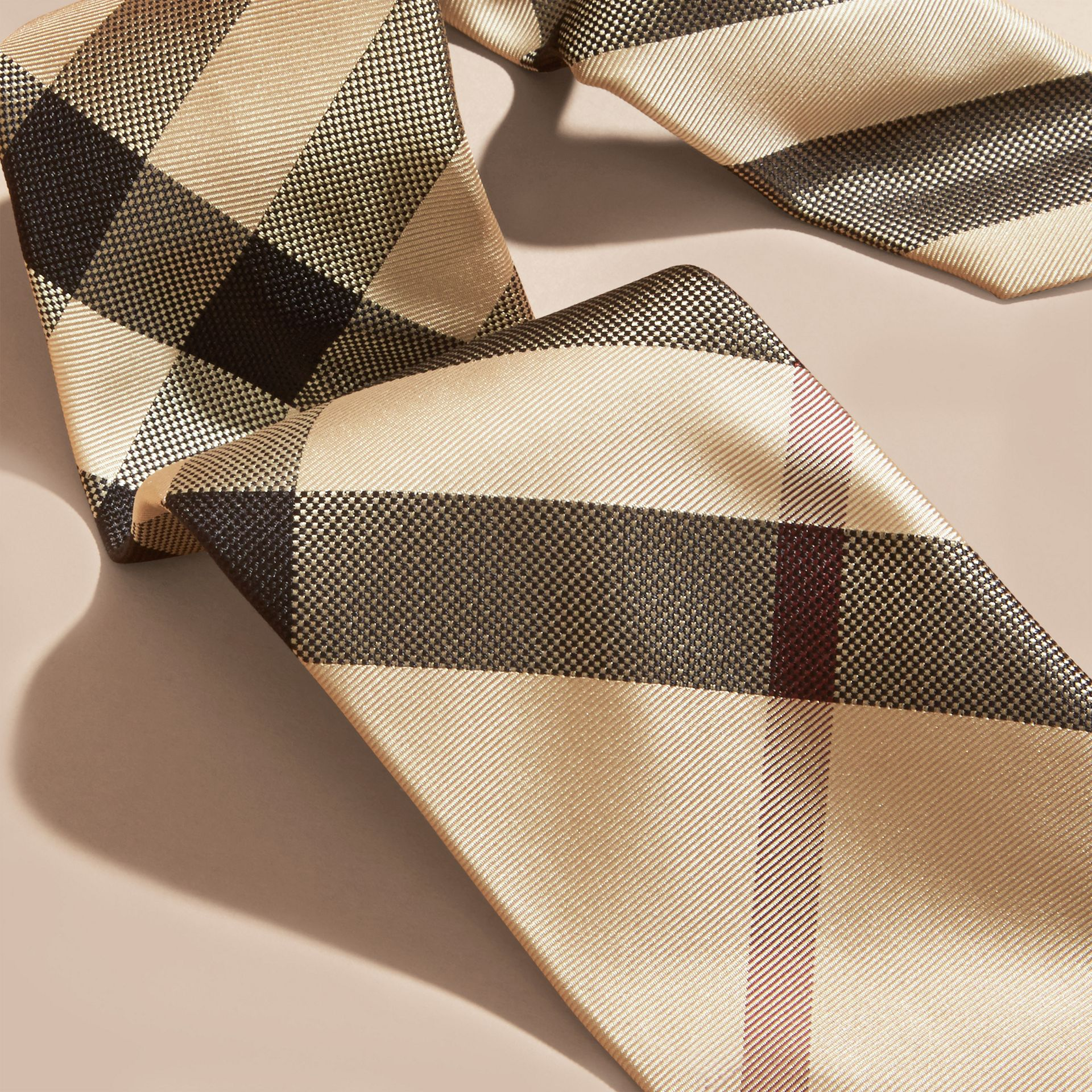 New classic check Modern Cut Check Silk Tie - gallery image 2