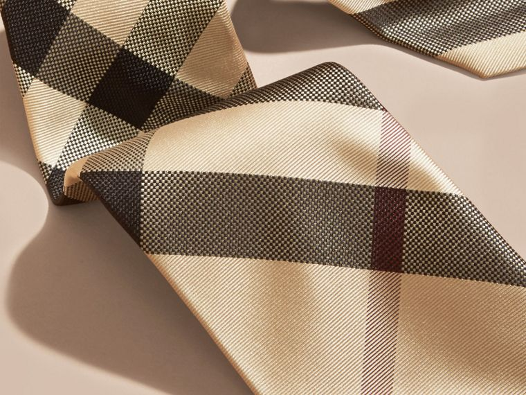 New classic check Modern Cut Check Silk Tie - cell image 1