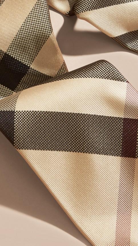New classic check Modern Cut Check Silk Tie - Image 2