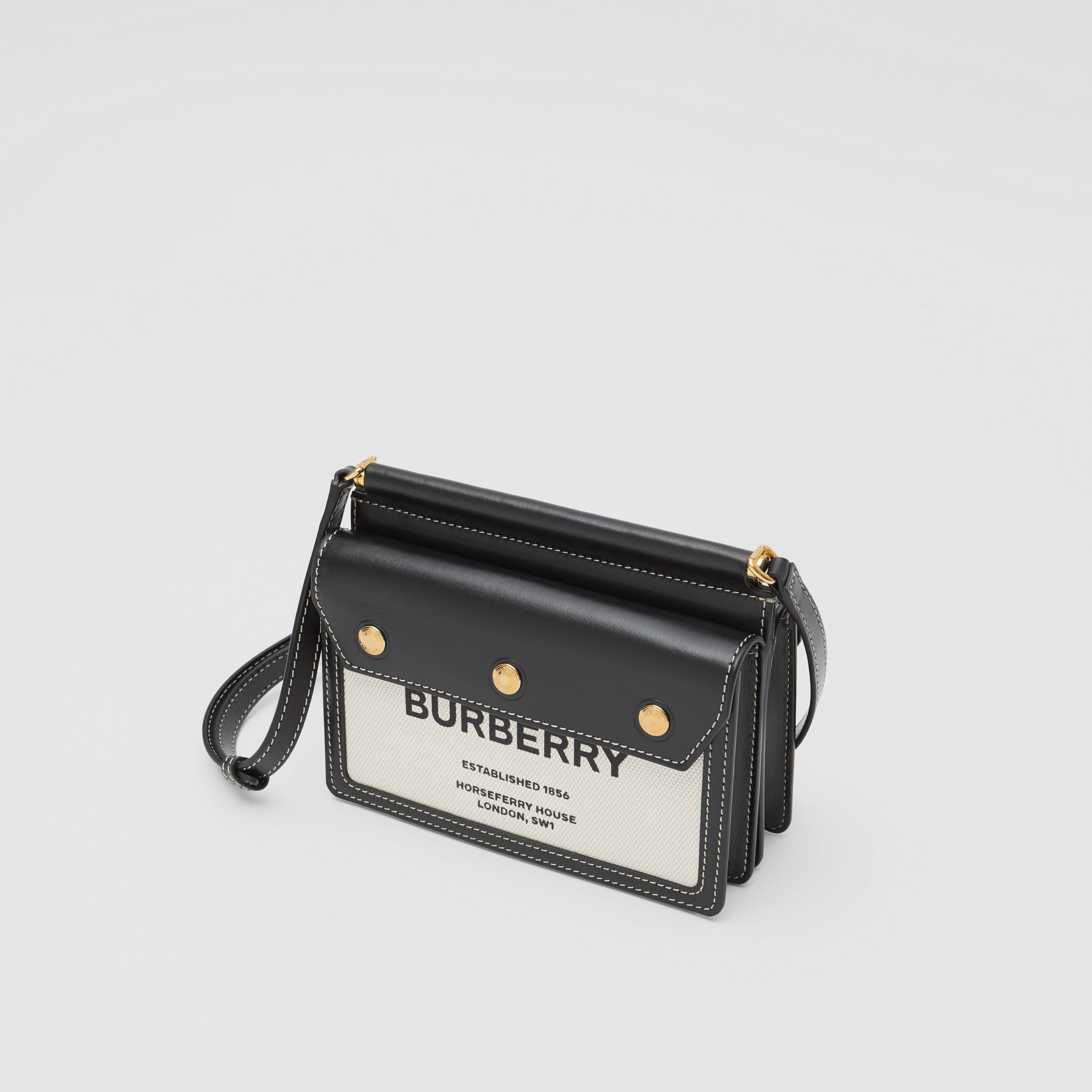 Mini Horseferry Print Title Bag with Pocket Detail - Women | Burberry Australia - 4
