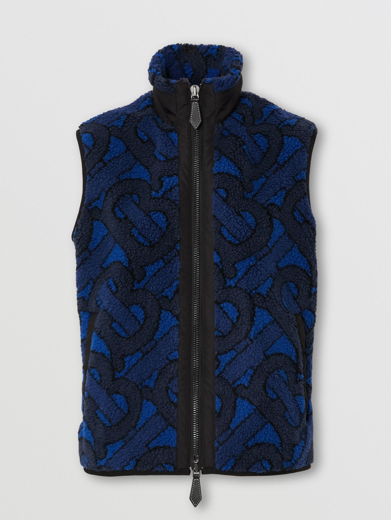 Monogram Fleece Jacquard Gilet in Navy