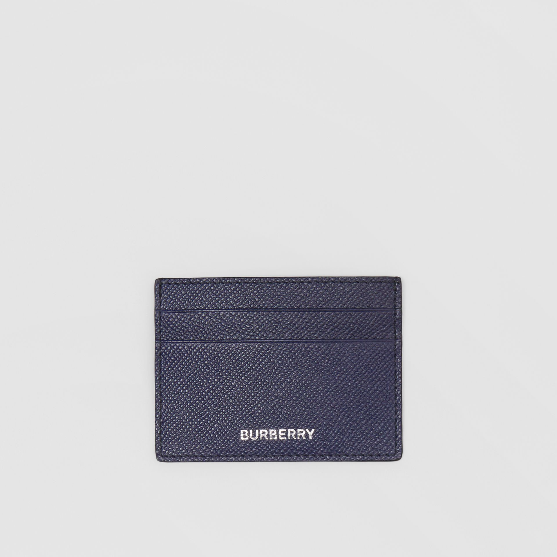 Grainy Leather Card Case in Regency Blue - Men | Burberry - gallery image 0