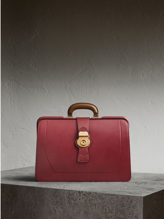 The DK88 Doctor's Bag in Antique Red - Men | Burberry