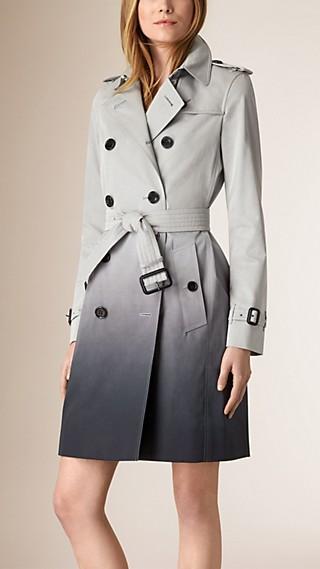Trench-coat en coton à effet dégradé