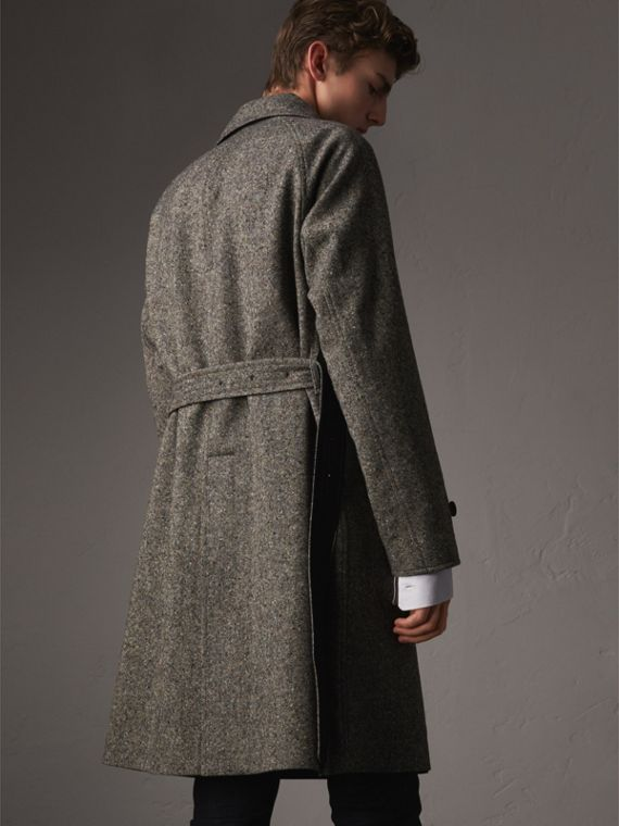 Reversible Donegal Tweed and Gabardine Trench Coat - Men | Burberry - cell image 2