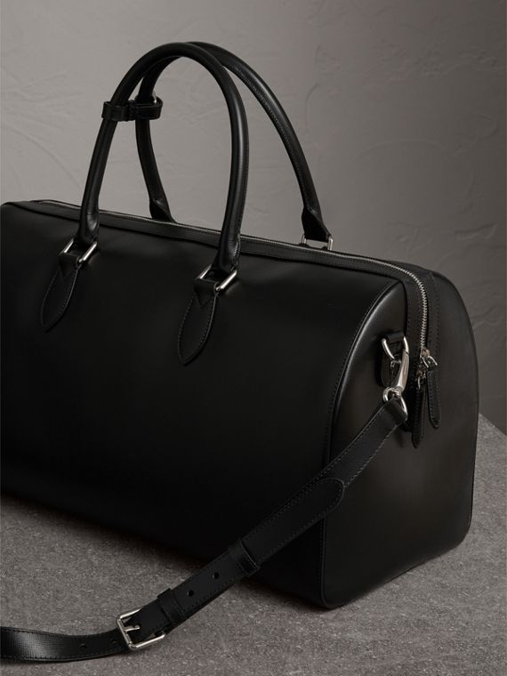 London Leather Holdall in Black | Burberry - cell image 3