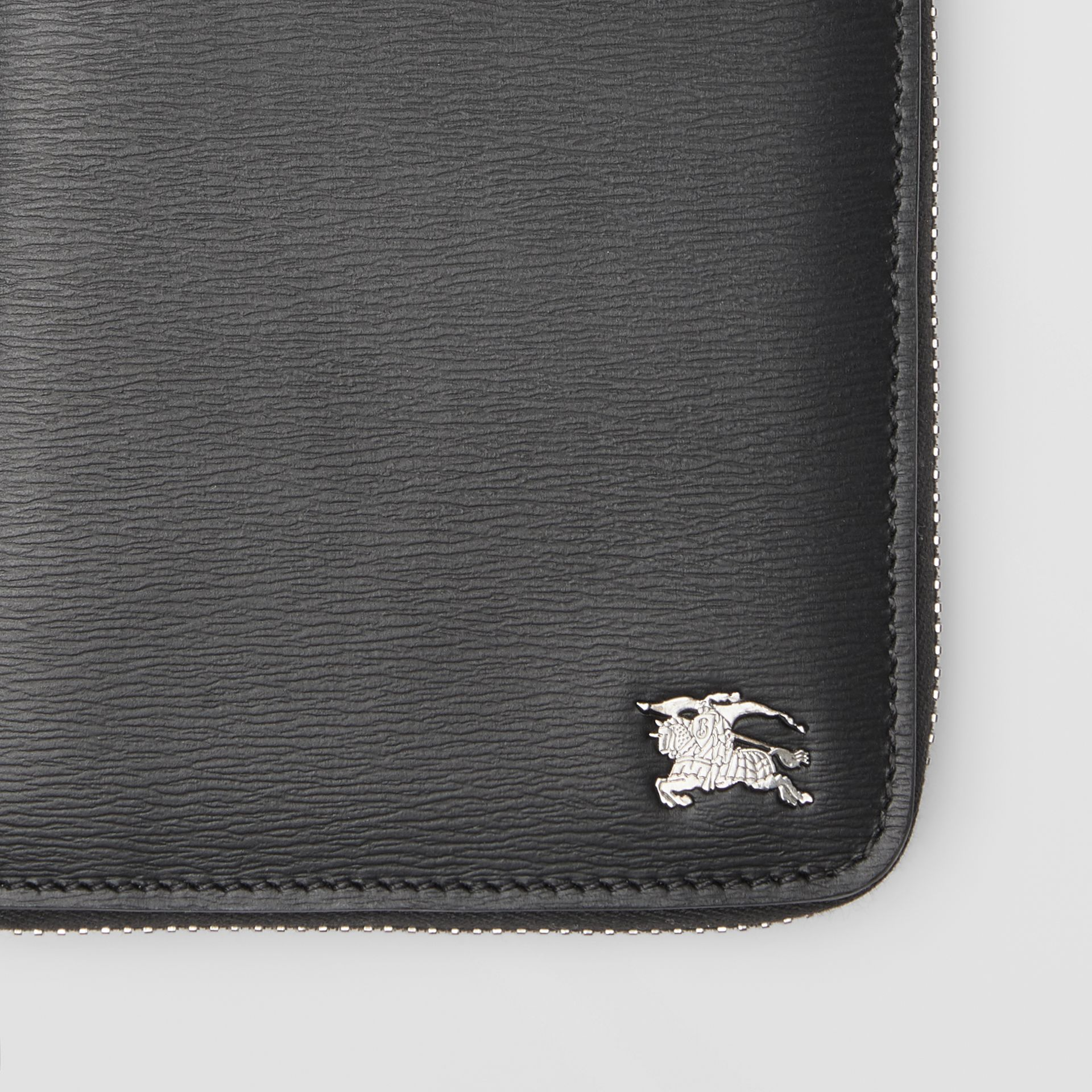 London Leather Ziparound Wallet in Black - Men | Burberry Singapore - gallery image 1
