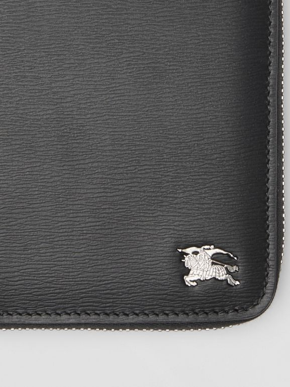 London Leather Ziparound Wallet in Black - Men | Burberry Hong Kong - cell image 1