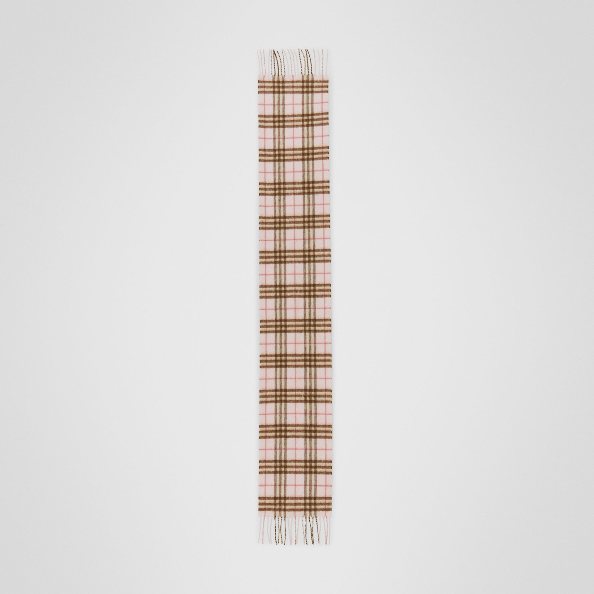 The Mini Classic Vintage Check Cashmere Scarf in Ice Pink - Children | Burberry - gallery image 2