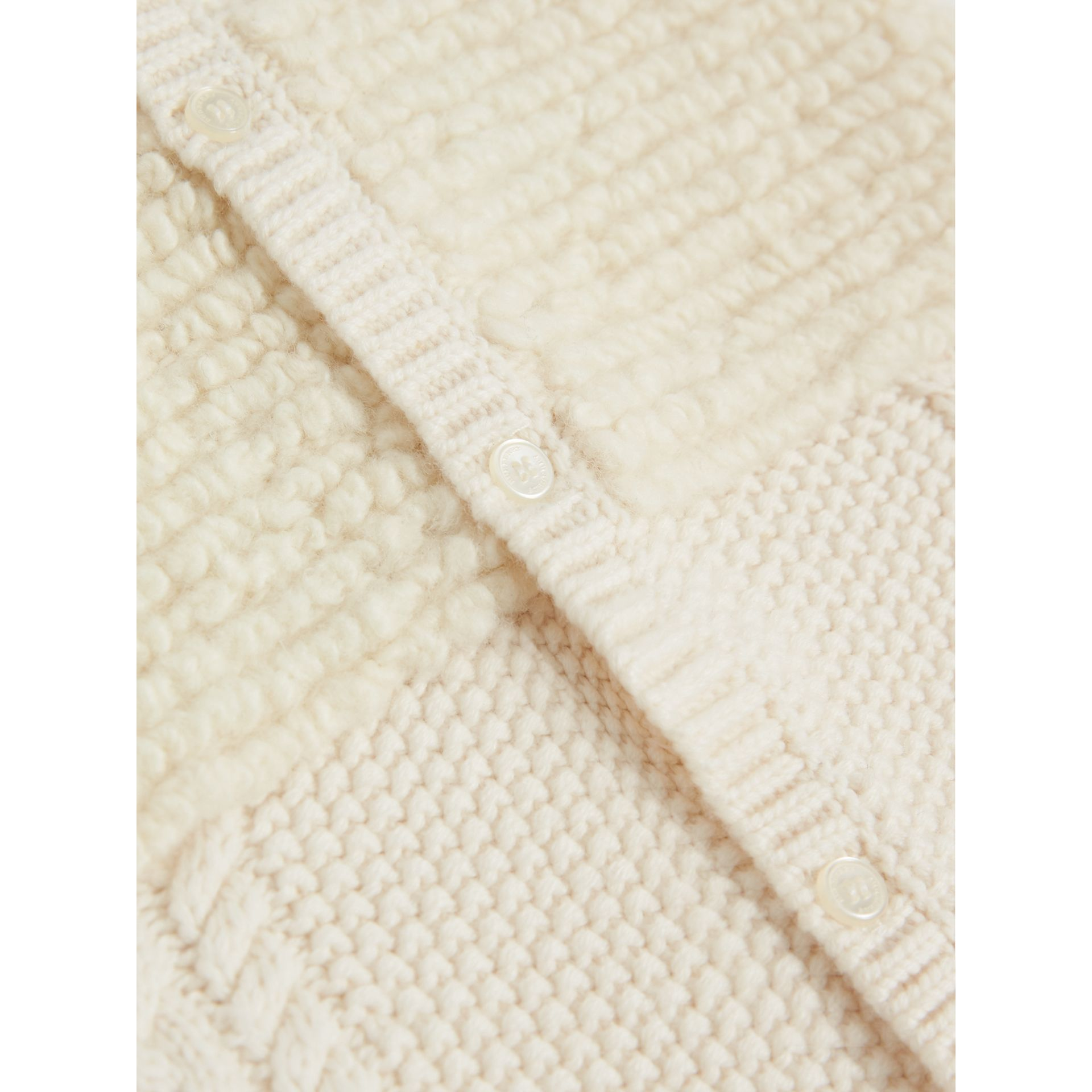 Wool Cashmere Two-piece Baby Gift Set in Natural White | Burberry United Kingdom - gallery image 1