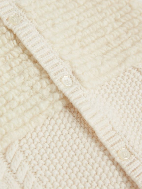 Wool Cashmere Two-piece Baby Gift Set in Natural White | Burberry - cell image 1