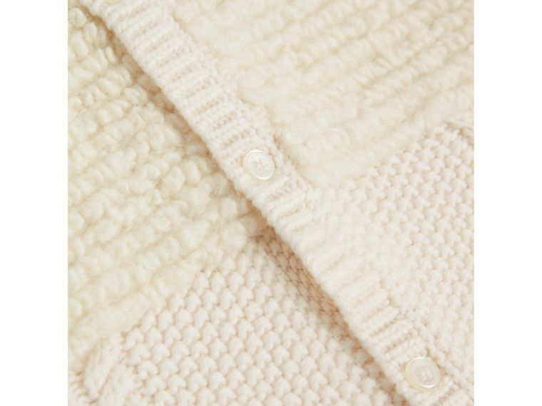Wool Cashmere Two-piece Baby Gift Set in Natural White | Burberry United Kingdom - cell image 1
