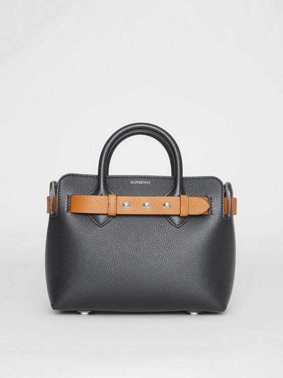 The Mini Leather Triple Stud Belt Bag in Black