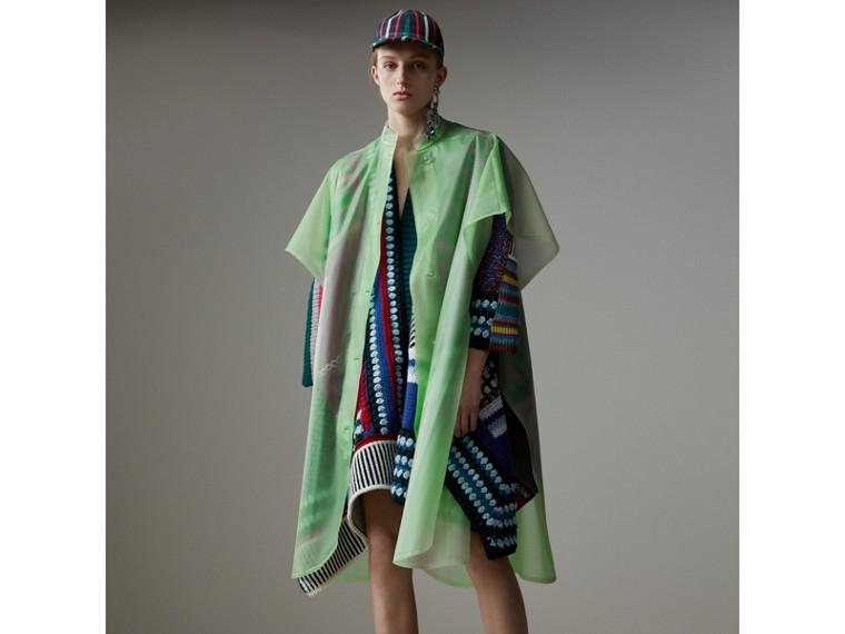 Poncho aus Wolle und Kaschmir im Patchworkdesign (Mehrfarbig) - Damen | Burberry - cell image 4