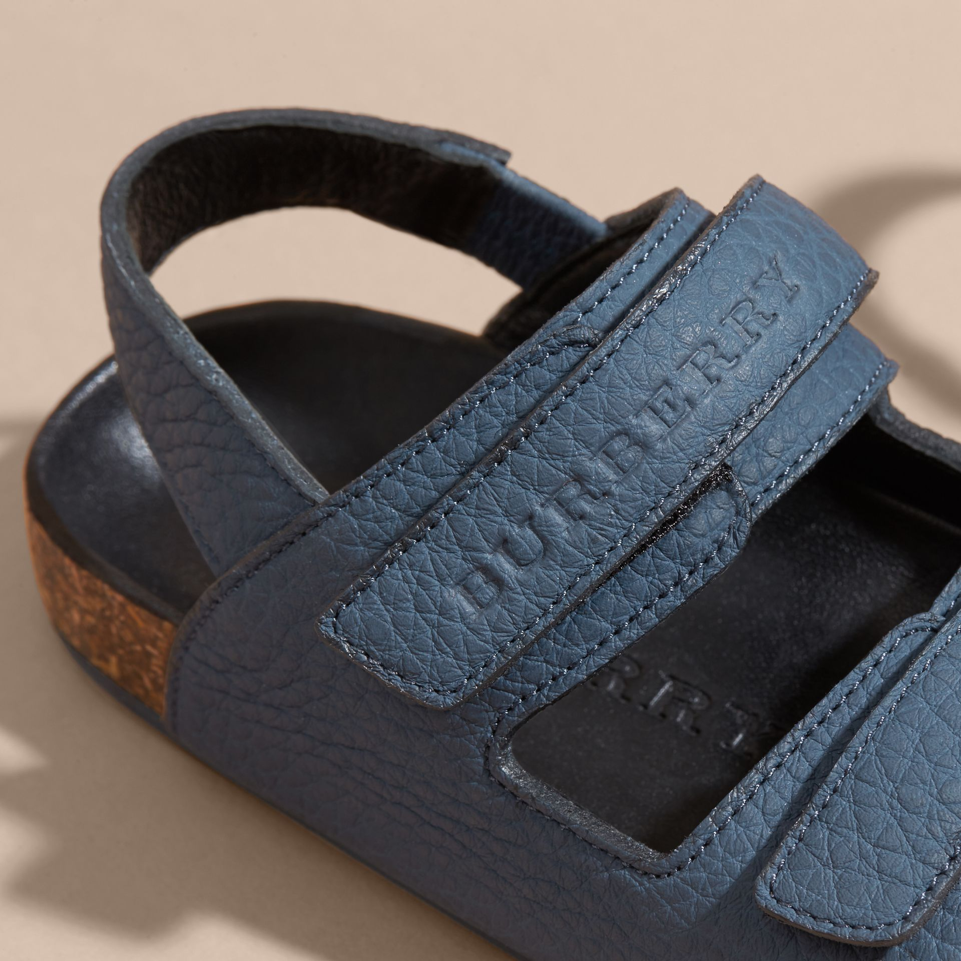 Cork Sole Leather Sandals - gallery image 2