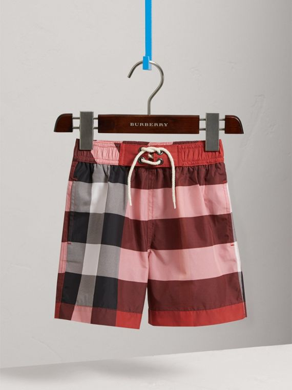 Check Swim Shorts in Parade Red - Boy | Burberry United States - cell image 2