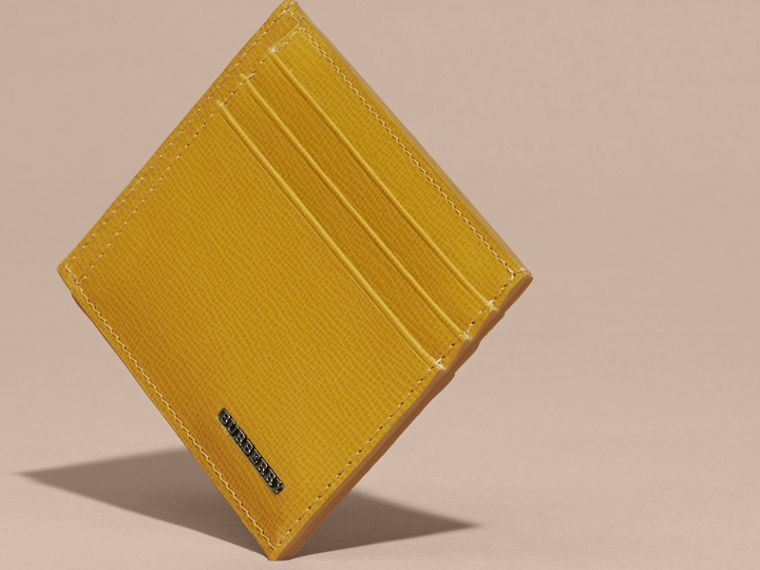 London Leather Card Case Larch Yellow - cell image 4