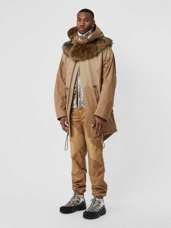 Two-tone Nylon Trackpants in Warm Walnut
