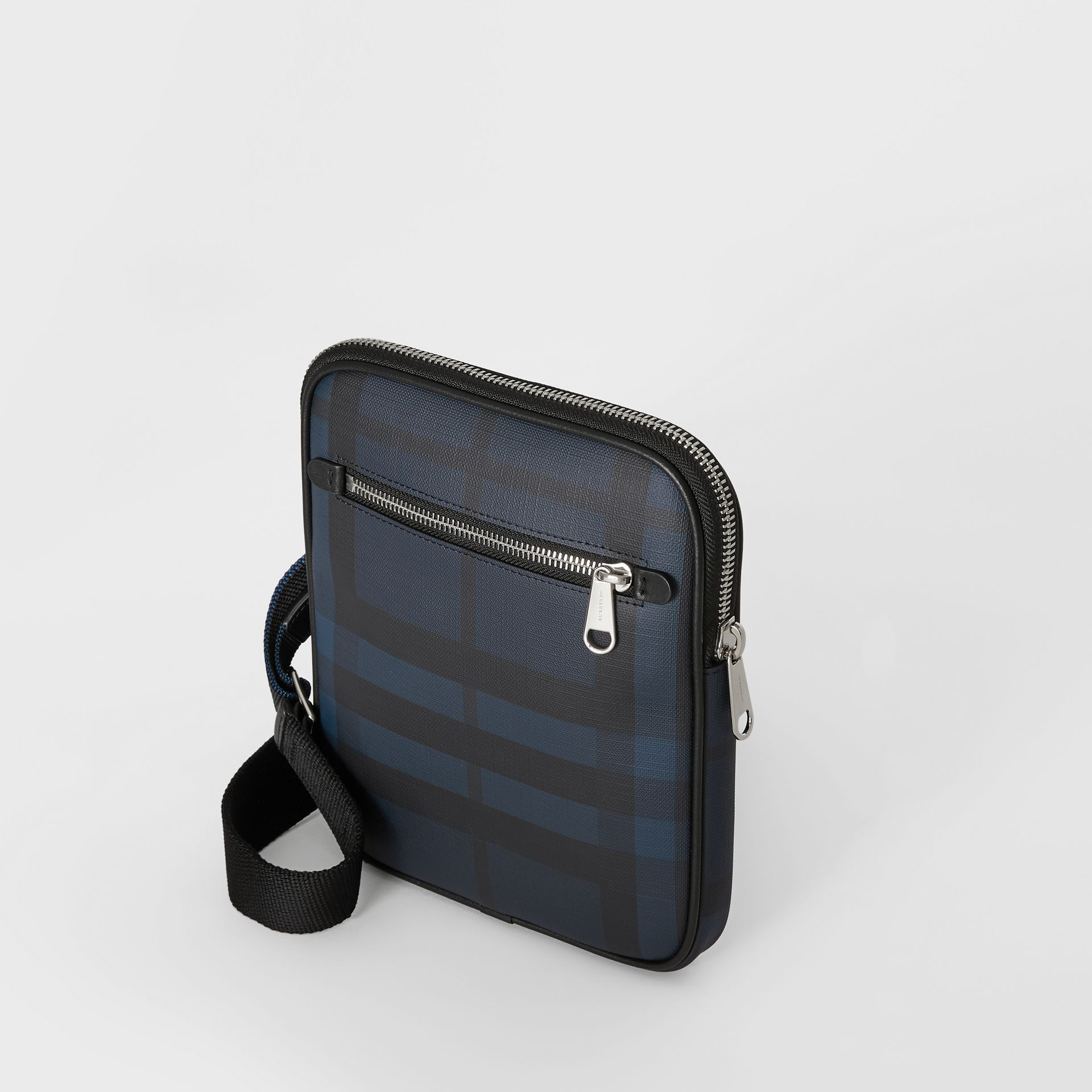 Slim London Check Crossbody Bag in Navy/black - Men | Burberry - gallery image 4