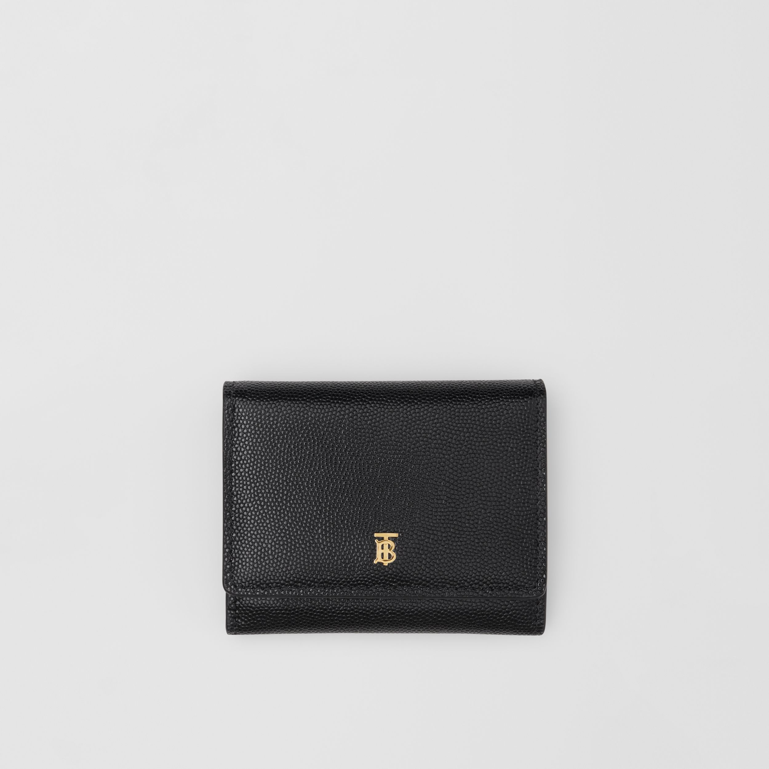 Grainy Leather ID Card Case in Black - Women | Burberry - 1