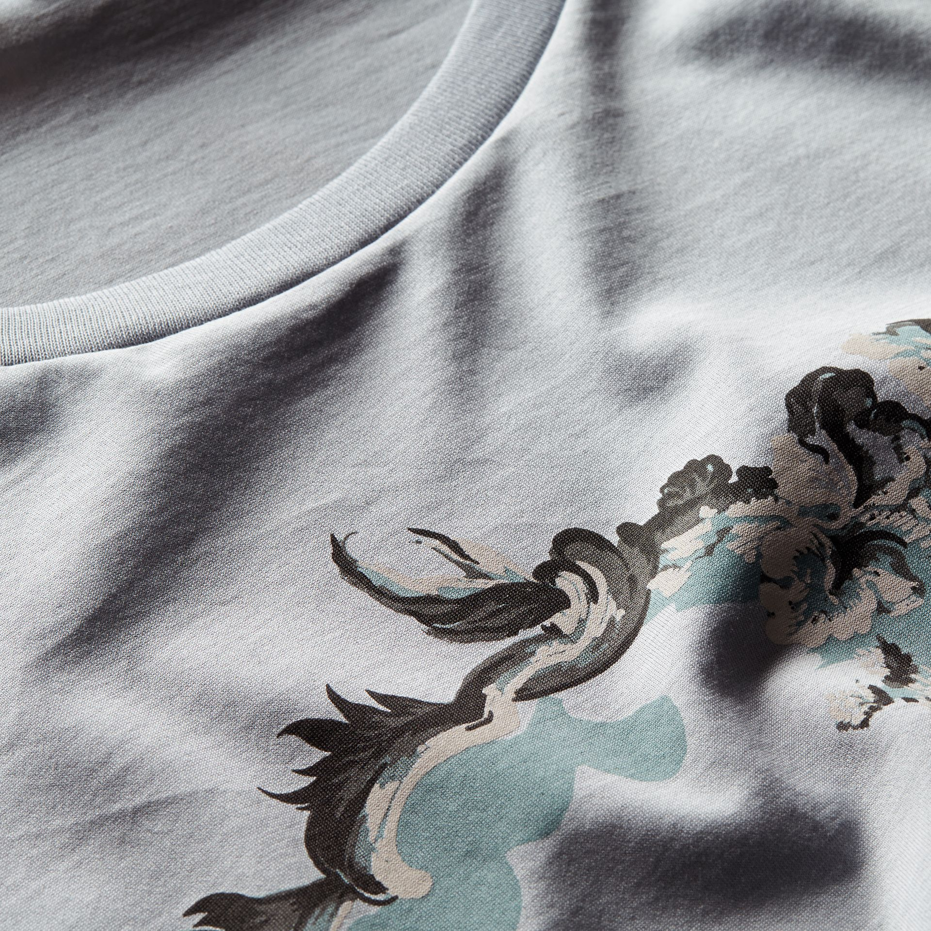 Dusty mint Wallpaper Print Cotton T-Shirt - gallery image 2