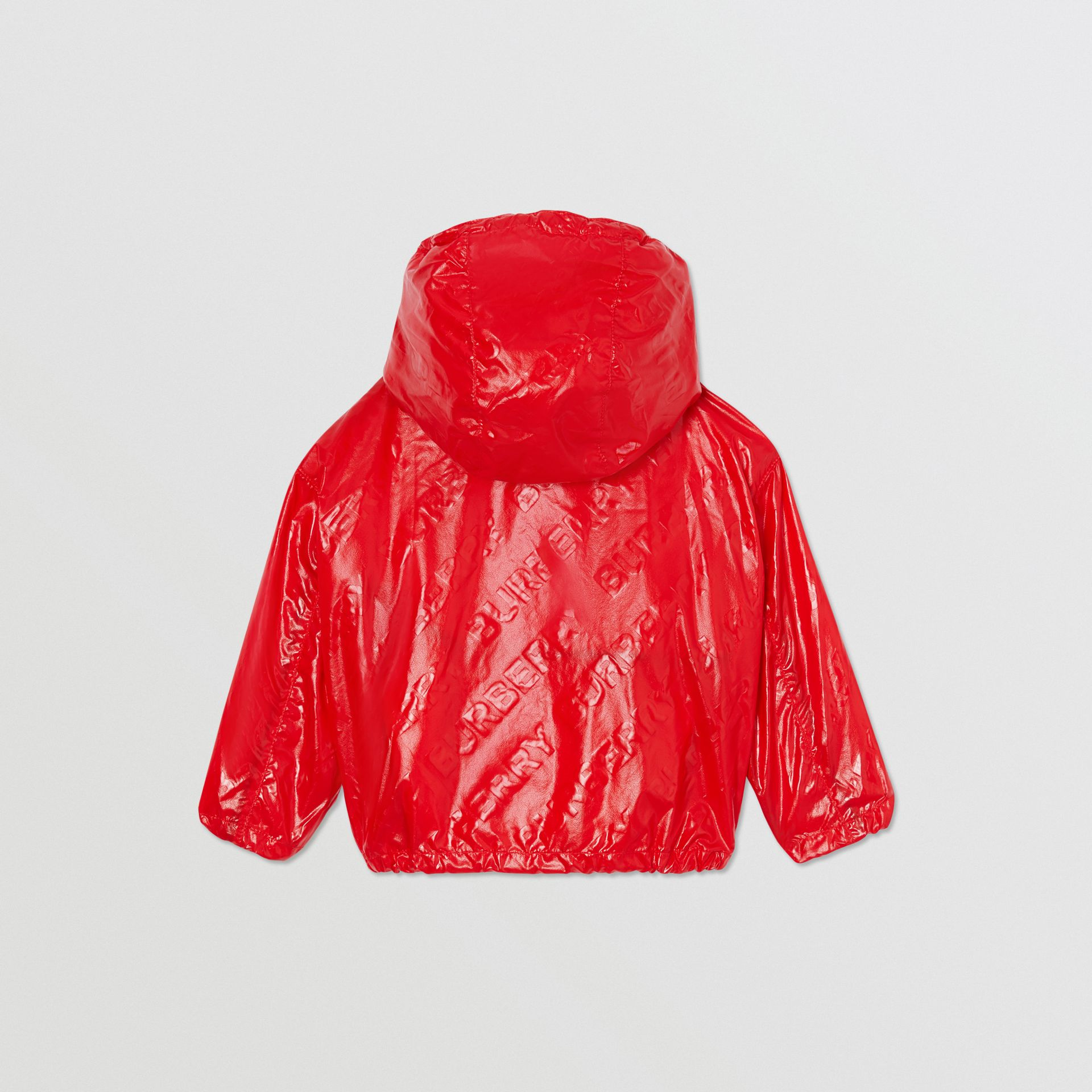 Logo Print Lightweight Hooded Jacket in Bright Red - Children | Burberry United States - gallery image 4
