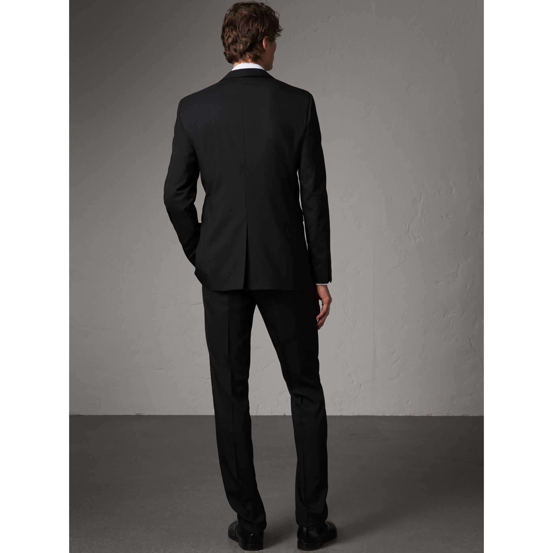 Modern Fit Wool Part-canvas Suit in Black - Men | Burberry United Kingdom - gallery image 3