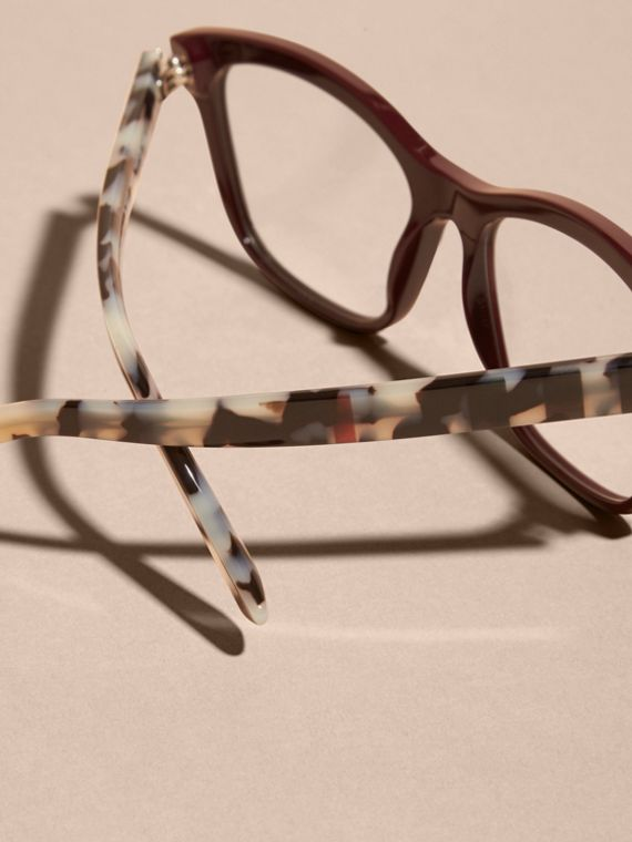 Check Detail Square Optical Frames Oxblood - cell image 2