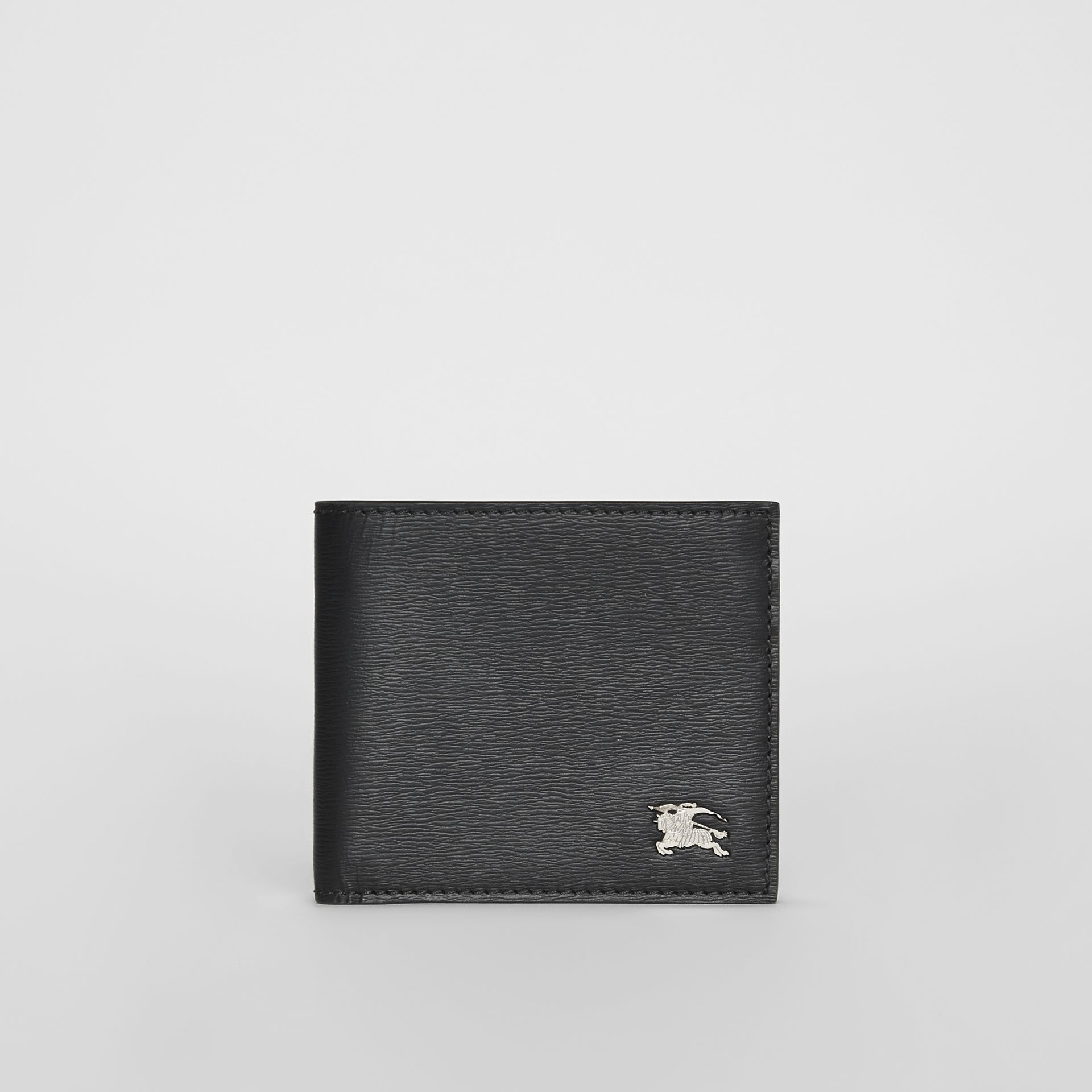 London Leather International Bifold Wallet in Black - Men | Burberry Canada - gallery image 2