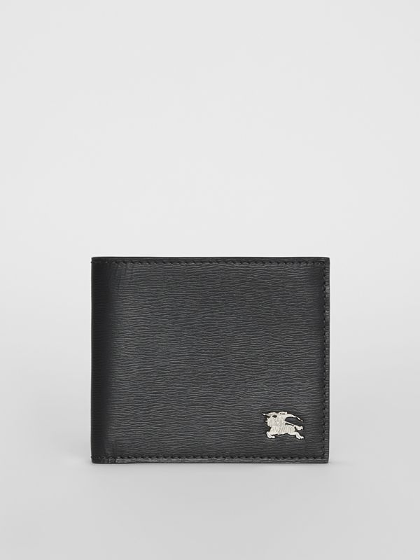 London Leather International Bifold Wallet in Black - Men | Burberry Canada - cell image 2