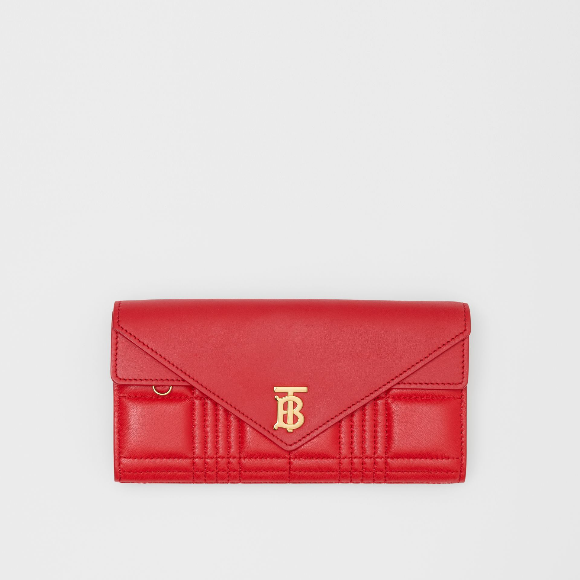 Monogram Motif Quilted Continental Wallet in Bright Red - Women | Burberry - gallery image 0