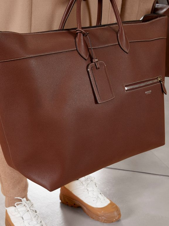 Grainy Leather Holdall in Tan - Men | Burberry Canada - cell image 1