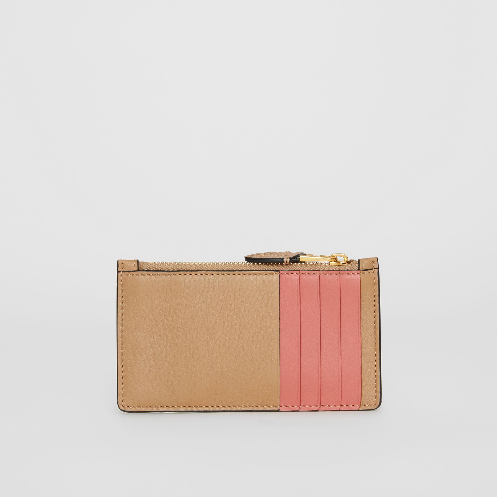 Two-tone Leather Card Case in Light Camel - Women | Burberry Singapore - gallery image 5
