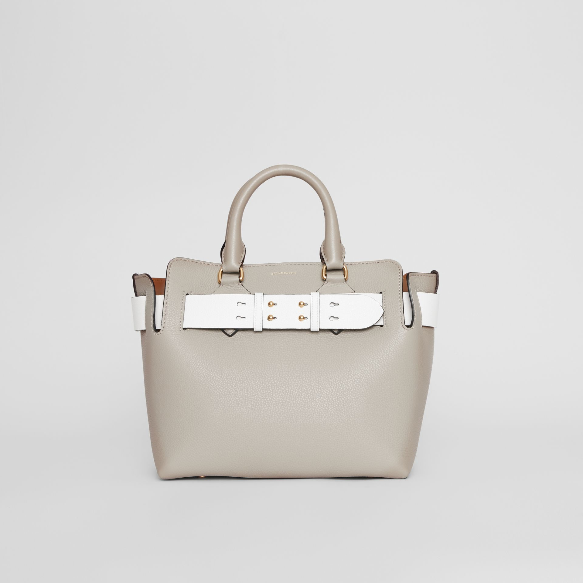 The Small Tri-tone Leather Belt Bag in Mineral Grey - Women | Burberry United Kingdom - gallery image 0