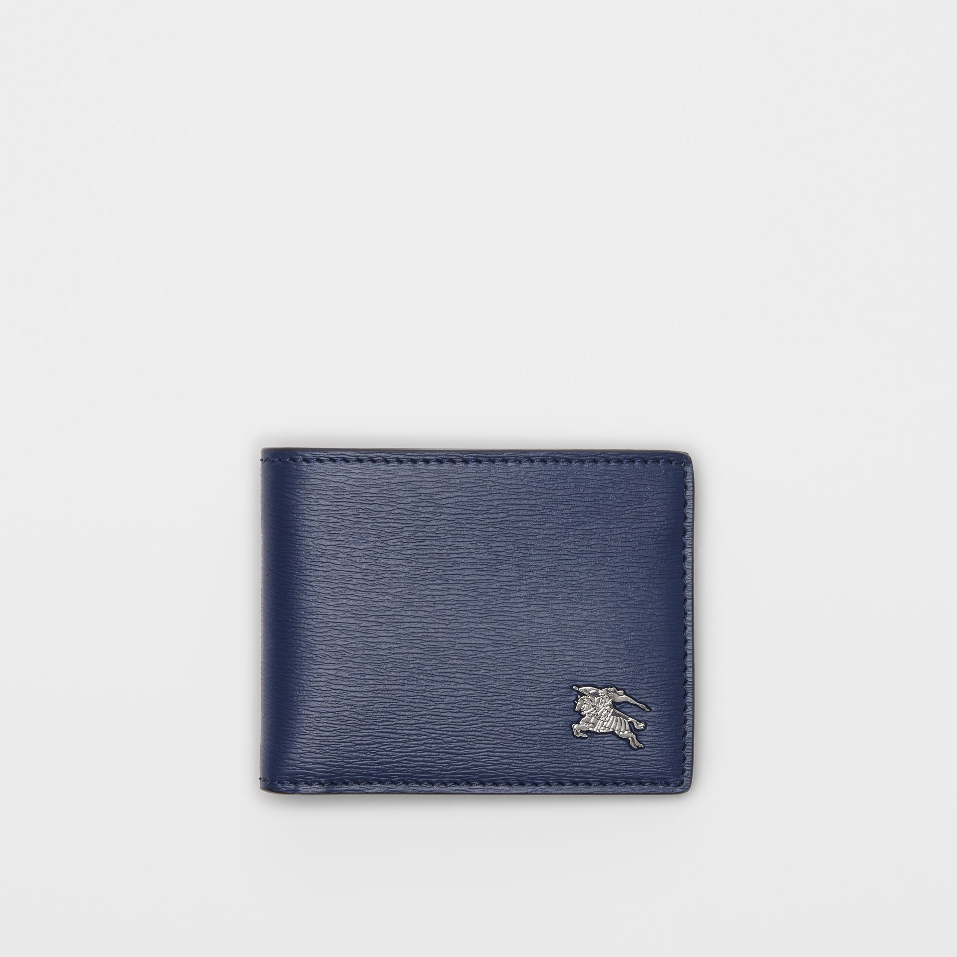 London Leather Bifold Wallet in Navy - Men | Burberry Singapore - gallery image 0