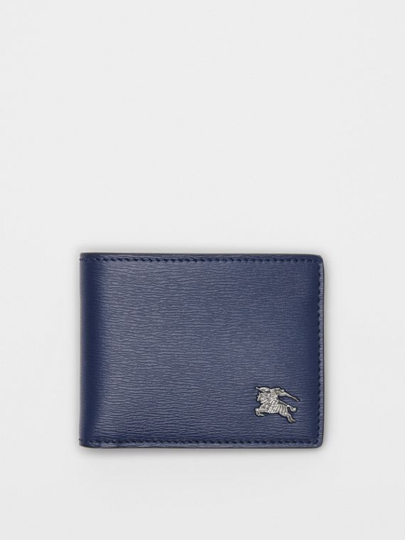 London Leather Bifold Wallet in Navy