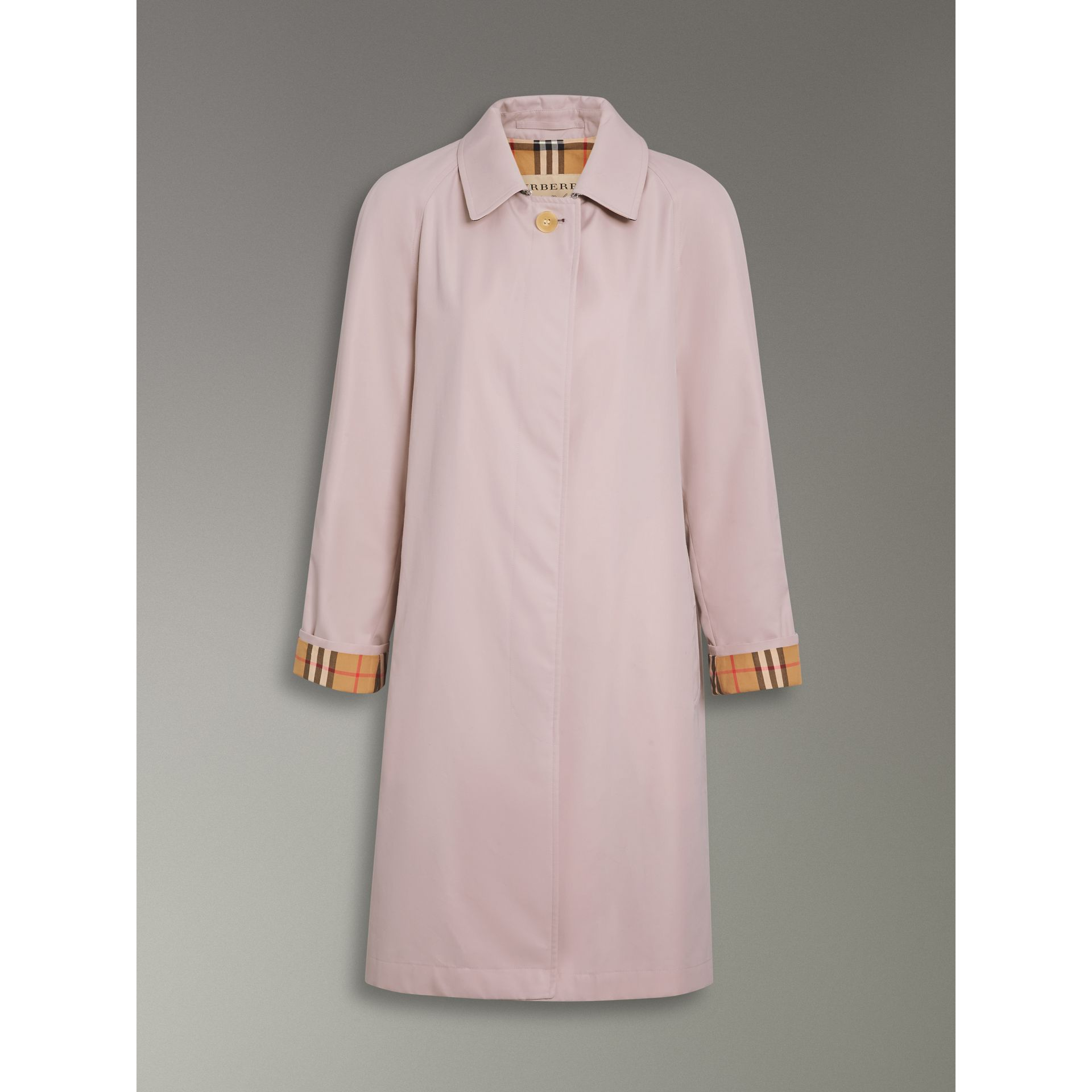The Camden Car Coat in Ice Pink - Women | Burberry - gallery image 3
