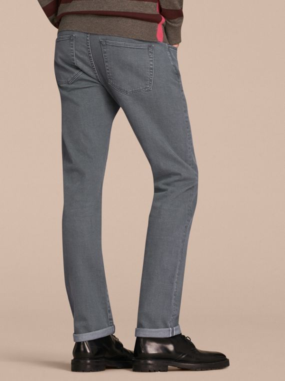 Dark grey Straight Fit Japanese Selvedge Denim Jeans - cell image 2