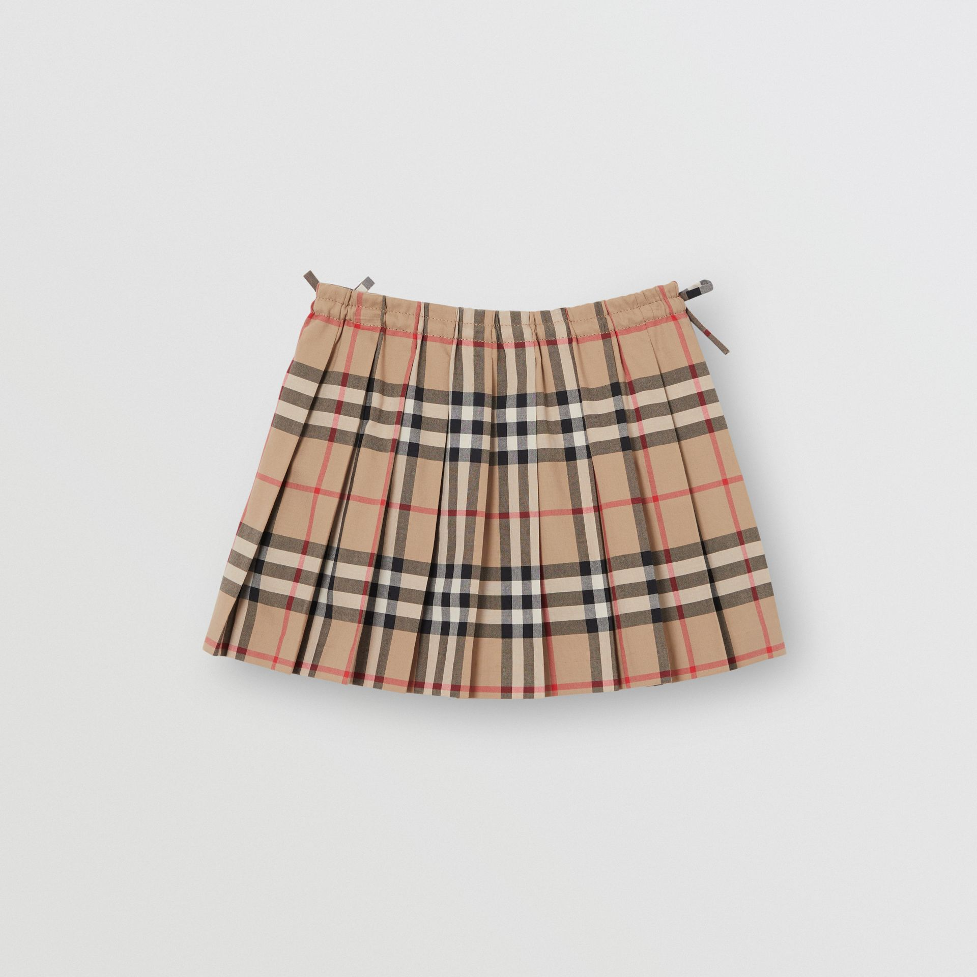Vintage Check Pleated Skirt in Archive Beige - Children | Burberry - gallery image 3