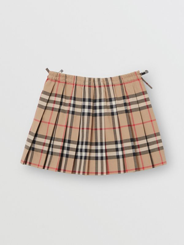 Vintage Check Pleated Skirt in Archive Beige - Children | Burberry Australia - cell image 3