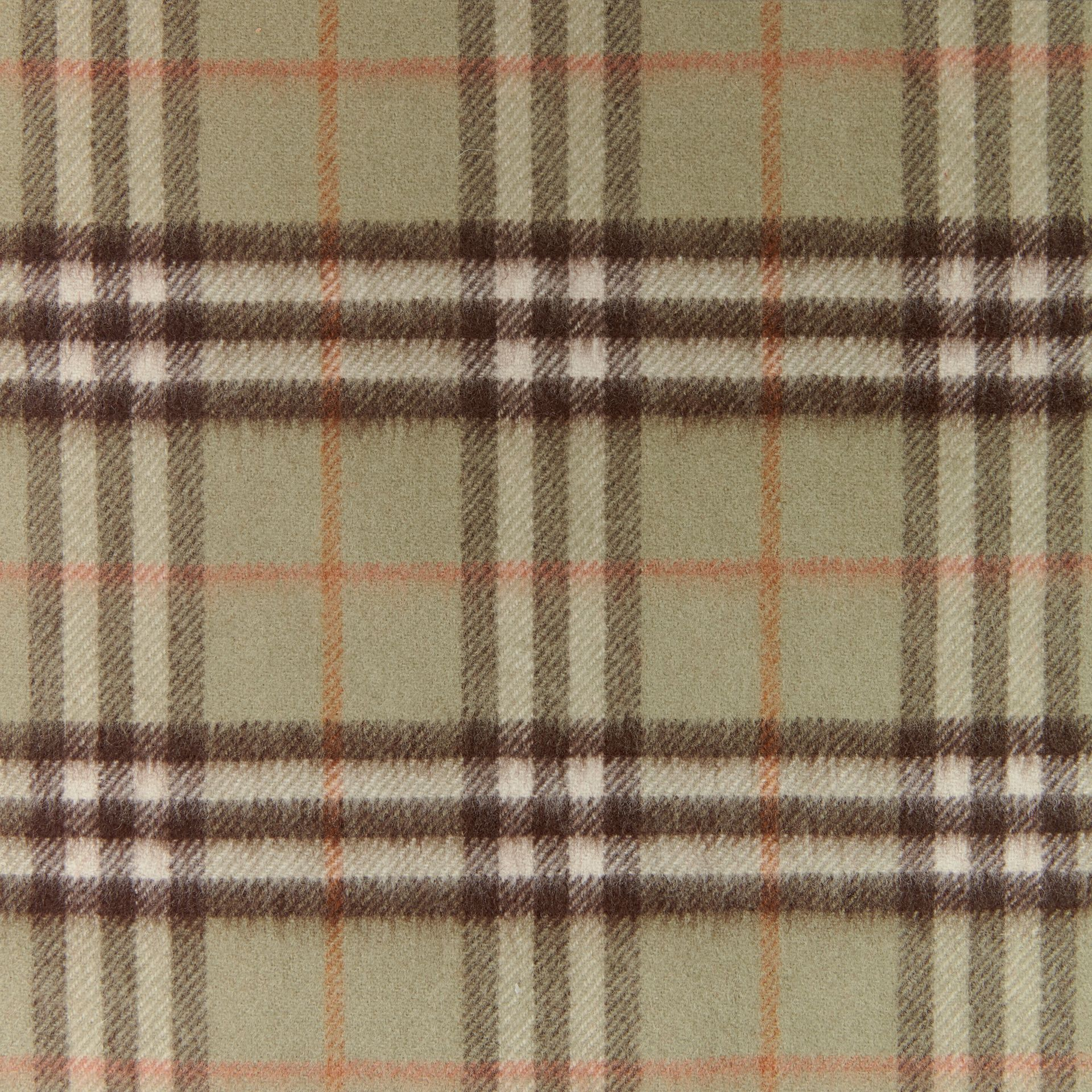 The Classic Vintage Check Cashmere Scarf in Pale Powder Green | Burberry United Kingdom - gallery image 1