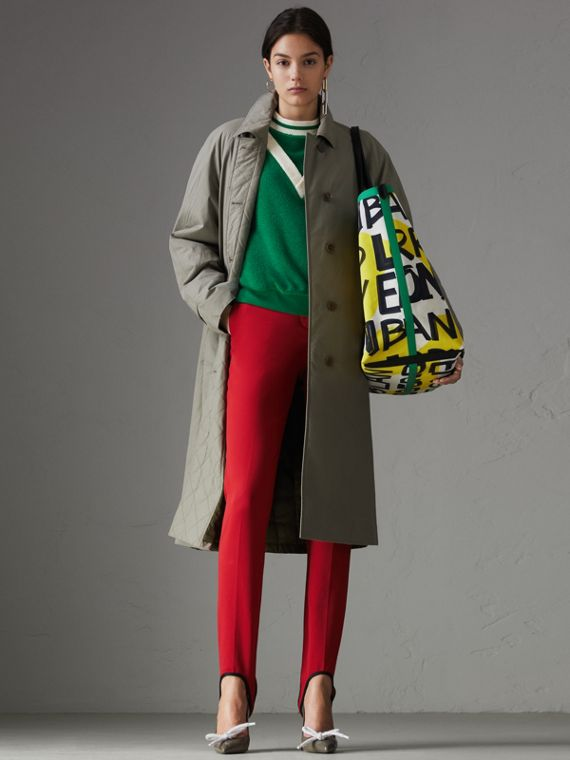 Cotton Blend Tailored Jodhpurs in Bright Red
