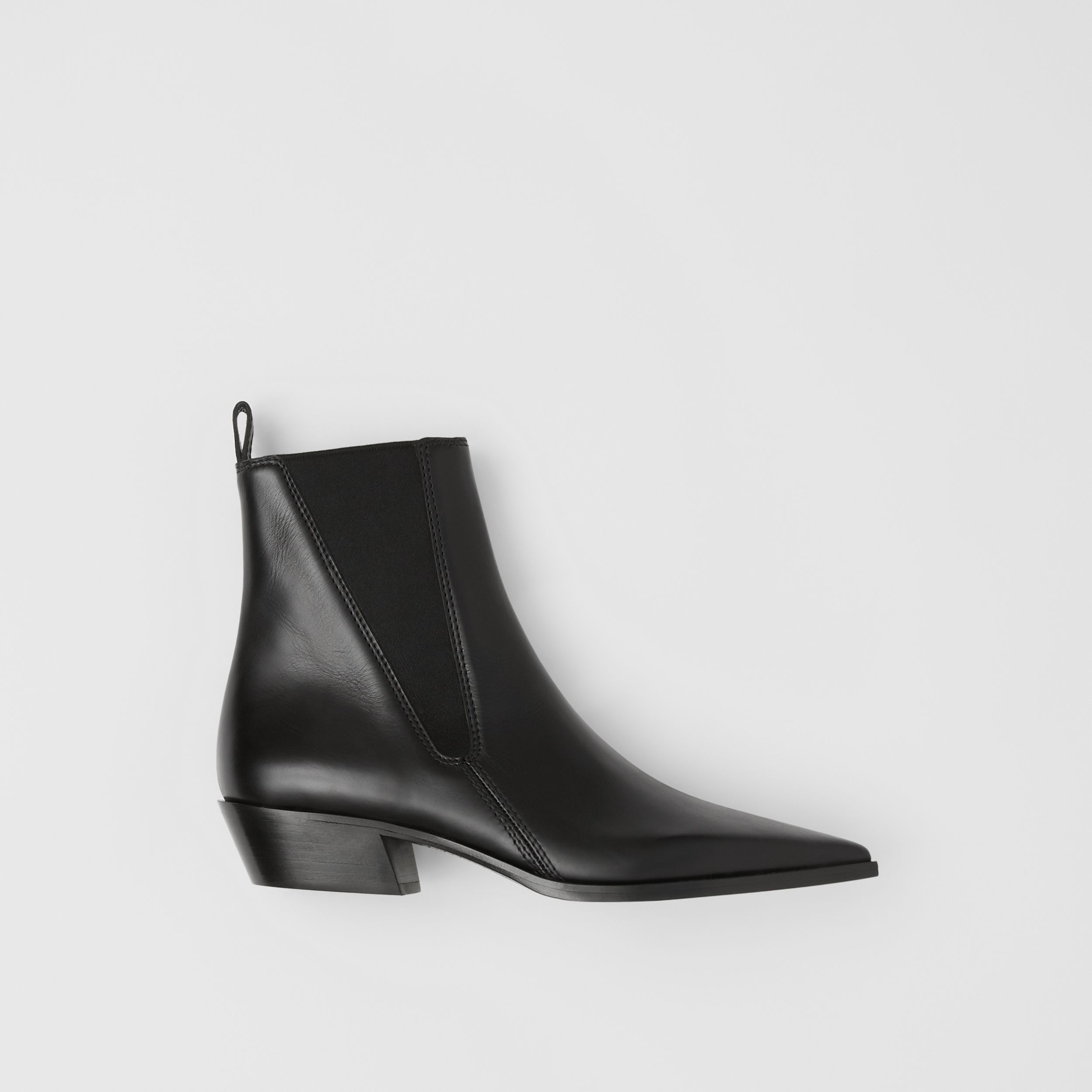 Leather Point-toe Chelsea Boots in Black - Women | Burberry United Kingdom - 1