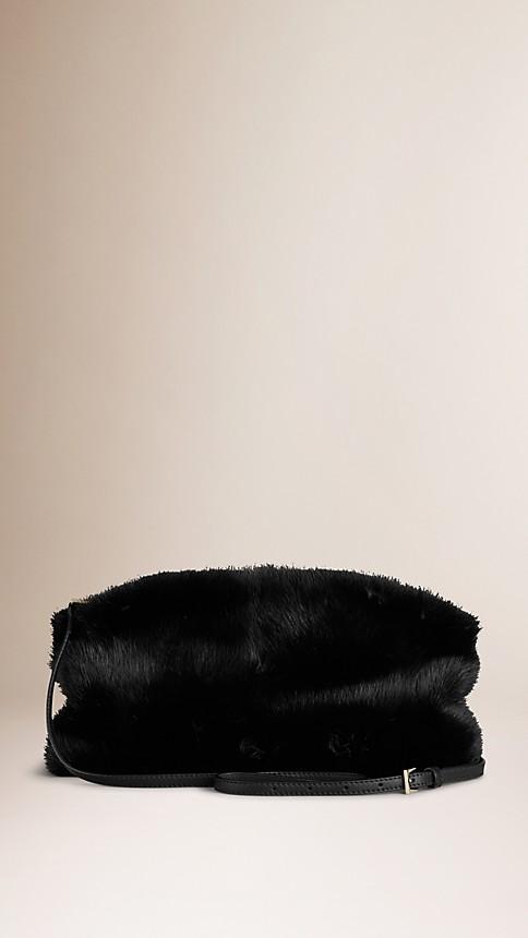 Black Mink Clutch Bag - Image 2