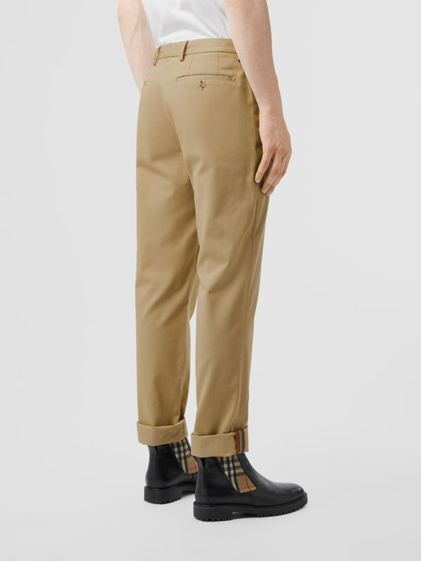 Slim Fit Cotton Chinos in Honey - Men | Burberry - cell image 2