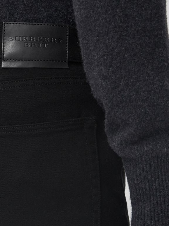 Slim Fit Stretch-denim Jeans in Black - Men | Burberry Singapore - cell image 1