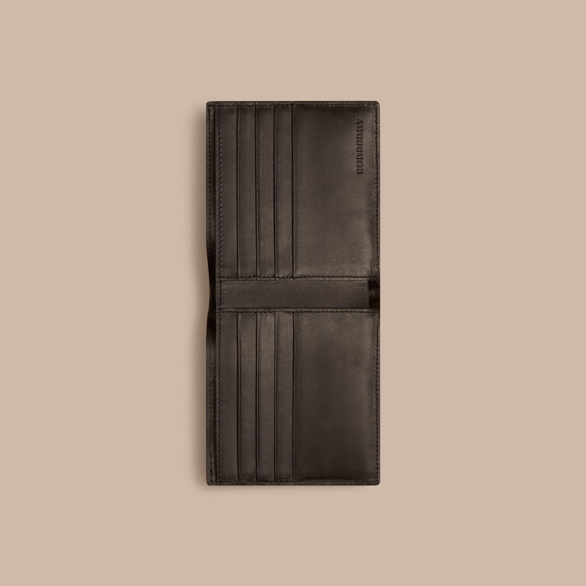 London Check Folding Wallet Chocolate/black - gallery image 4